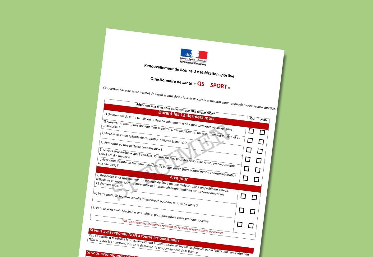 Questionnaire de santé